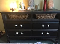 Black dresser. Needs repainting. Some candle wax on it, can likely be scrapped off :) Oakville, L6H 0L1