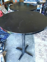 round black wooden pedestal table Ringgold, 30736