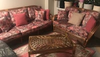 Rattan 3pc sofa set with coffee table Mississauga, L5C 3M7