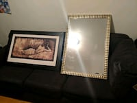 Well kept sectional, gilded frame mirror, picturr Halifax, B3L 1K3