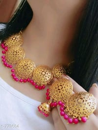 pink and white beaded necklace Ahmedabad, 382210