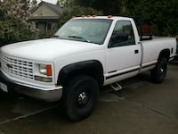 white Chevrolet extended pick up truck Nanaimo, V9T 1J6
