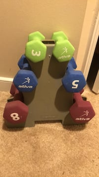 Free weight set with a frame