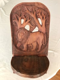 Brown wooden hand carved child's chair from Africa  Woodbridge, 22192
