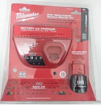 New unopened Milwaukee M12 Battery and Charger
