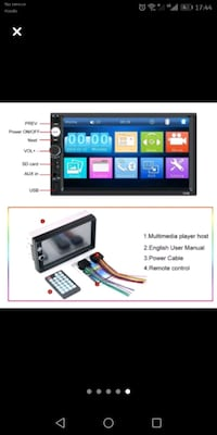 """7 """" scren mp5 player bleutooth usb sd card phone link aux camera rever"""