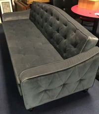 Tufted gray suede sofa sleeper barely used  Fort Worth, 76106