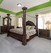 Luxurious king bedroom set with canopy TORONTO