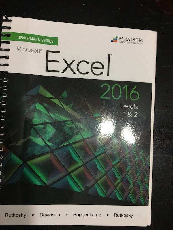used 2016 microsoft office excel levels 1  u0026 2 textbook  tl