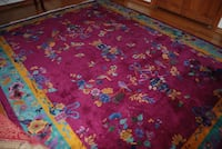 1920's Antique Chinese Area Rug Carpet (8' x 10') Washington