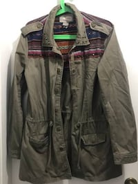 Women's Olive green utility jacket medium  Vancouver