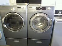 gray Samsung front-load washer and dryer set 789 km