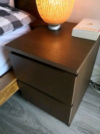 Ikea Malm nightstand - brown Markham, L3T 7Y1