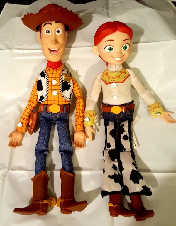 613e7dc8e Used ORIGINAL TOY STORY WIND UP WOODY AND JESSIE DOLLS for sale in Denison  - letgo