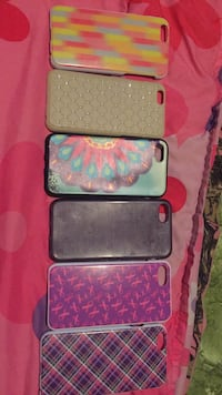 Three pink, blue, and purple iphone cases Rome, 13440