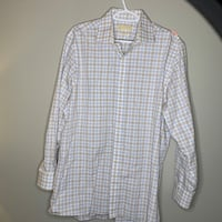 Michael Kors Large Mens Dress Shirt Long Sleeve Plaid South Elgin, 60177