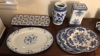 white-and-blue ceramic dinnerware set Bethesda, 20816