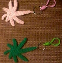 green and pink cannabis keychains Campbellford, K0L 1L0