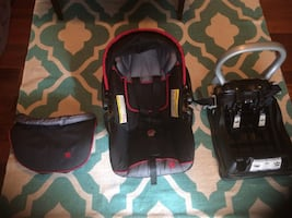 Baby Trend car seat with base and support pillow