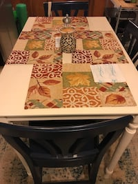 White and nautical blue solid wood table and chairs 328 mi