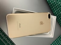 Gold iphone 7 plus with box