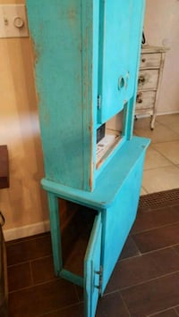 """Shabby chic wood cabinet 54""""T24""""W12""""D Apple Valley, 92308"""