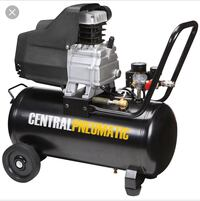 black and gray Central Pneumatic air compressor Springfield