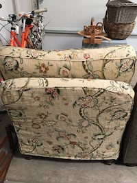 Beige, pink, and green floral cushion