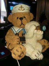 Large Vintage Resin Sailor Bear withTeddy Bear Statue