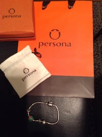 Silver persona bracelet glass Cham, 2 spacers, 1 stopper, gift Box and gift bag. Cobourg