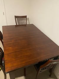 Dining wood table w/6 chairs