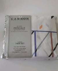 Cannon Monticello No Iron Percale Twin Sheet Set Toronto, M6H 3Y3