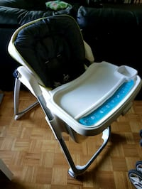 baby's white and blue high chair Toronto, M2L 2R3