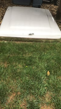 White truck bed cover, great condition!