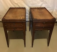 two brown wooden side tables 38 km