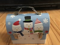"Snowman theme Tin Mini Lunch Box - like new - 5""x4""x3"" - cute San Jose, 95132"