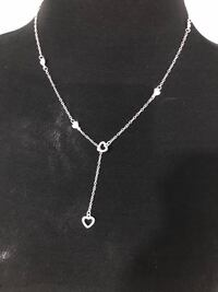 silver plated heart lariat