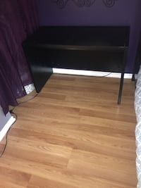 SOLID real wood black desk /vanity (mirror NOT included) Edmonton, T5A 4M6
