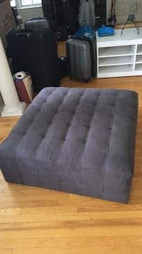 Tufted black suede ottoman chair Tampa, 33629