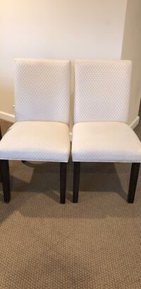 Two white padded armless chairs Thousand Oaks, 91362