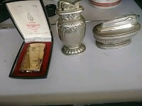 two silver-colored and gold-colored canisters Canton, 28716