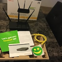 Selling my D-Link ...Wireless AC750 Dual Band Router with High-Gain  Antennas ...it was just bought this end of March ..decided to go back Rogers so don't need this router no more asking $30.00Firm no holds .... London, N6J 2V9