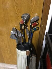 gray golf club set with bag Midwest City, 73130