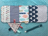 NEW Burp Cloth, Soother Clip and Triangle Taggie Set - Feather/Tipi/Chevron  Winnipeg, R2M 2H1