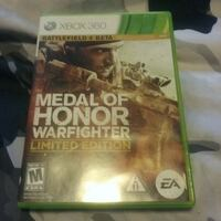 Xbox 360 Medal of Honor Warfighter game Ottawa, K2H 8A6