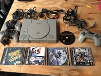 PlayStation 1 with games controllers and memory California, 20619