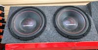 """2 12"""" massive brand subwoofers with box. Plug and play  New Smyrna Beach, 32168"""