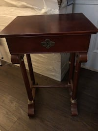Antique desk, no key and one screw missing. Selling for my sister so price is firm. Thanks  Montréal, H3K 2R4