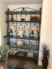 Metal with glass top 5 tier bakers rack and matching entry table Simi Valley