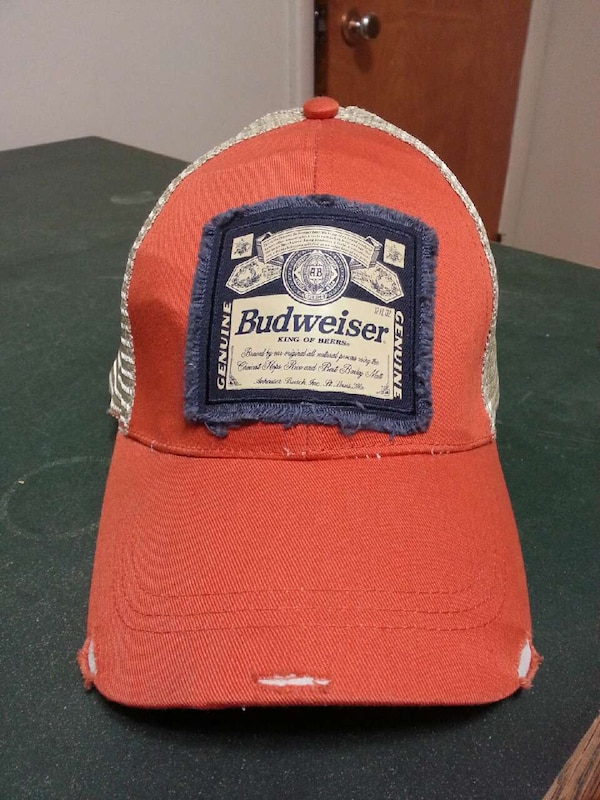 3e1534afea5d6 Used orange and white Budweiser baseball cap for sale in Grimsby - letgo